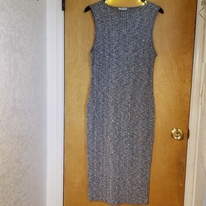 Gray Tight Curve Hugging Midi Dress Size 1X